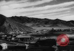 Image of cattle in fields Central Asia, 1944, second 5 stock footage video 65675047135