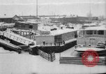 Image of Ships frozen at docks Siberia Russia, 1918, second 1 stock footage video 65675047150