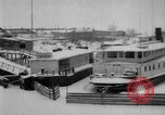 Image of Ships frozen at docks Siberia Russia, 1918, second 5 stock footage video 65675047150