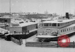 Image of Ships frozen at docks Siberia Russia, 1918, second 6 stock footage video 65675047150