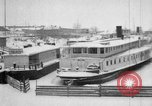 Image of Ships frozen at docks Siberia Russia, 1918, second 8 stock footage video 65675047150