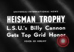 Image of Heisman Trophy New York United States USA, 1959, second 2 stock footage video 65675047255