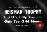Image of Heisman Trophy New York United States USA, 1959, second 4 stock footage video 65675047255