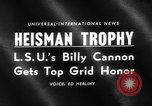 Image of Heisman Trophy New York United States USA, 1959, second 5 stock footage video 65675047255