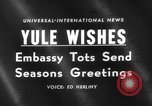 Image of Yule greeting Washington DC USA, 1959, second 1 stock footage video 65675047258