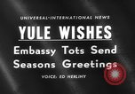 Image of Yule greeting Washington DC USA, 1959, second 2 stock footage video 65675047258