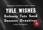 Image of Yule greeting Washington DC USA, 1959, second 3 stock footage video 65675047258