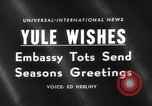 Image of Yule greeting Washington DC USA, 1959, second 5 stock footage video 65675047258