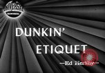 Image of Donut Dunking Week New York United States USA, 1946, second 1 stock footage video 65675047264