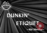 Image of Donut Dunking Week New York United States USA, 1946, second 2 stock footage video 65675047264