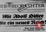 Image of election day Bavaria Germany, 1933, second 10 stock footage video 65675047287