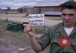 Image of M-110 SP 8-inch howitzer Cu Chi Vietnam, 1967, second 2 stock footage video 65675047442