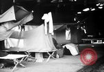 Image of U.S. troops setting up camp on captured Japanese base Aslito Airfield Saipan Mariana Islands, 1944, second 10 stock footage video 65675047542