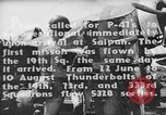 Image of US Army Air Forces 318th Fighter Group P-47 aircraft  Aslito Airfield Saipan Mariana Islands, 1944, second 4 stock footage video 65675047544
