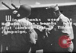 Image of Improvised napalm bombs on P-47 aircraft Aslito Airfield Saipan Mariana Islands, 1944, second 3 stock footage video 65675047545