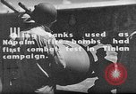 Image of Improvised napalm bombs on P-47 aircraft Aslito Airfield Saipan Mariana Islands, 1944, second 5 stock footage video 65675047545