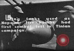 Image of Improvised napalm bombs on P-47 aircraft Aslito Airfield Saipan Mariana Islands, 1944, second 7 stock footage video 65675047545