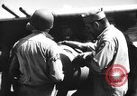 Image of Improvised napalm bombs on P-47 aircraft Aslito Airfield Saipan Mariana Islands, 1944, second 9 stock footage video 65675047545