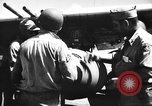 Image of Improvised napalm bombs on P-47 aircraft Aslito Airfield Saipan Mariana Islands, 1944, second 10 stock footage video 65675047545