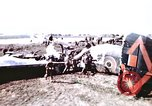 Image of wrecked British Halifax III aircraft Germany, 1945, second 2 stock footage video 65675047587