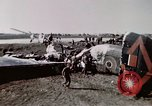 Image of wrecked British Halifax III aircraft Germany, 1945, second 3 stock footage video 65675047587