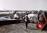 Image of wrecked British Halifax III aircraft Germany, 1945, second 4 stock footage video 65675047587