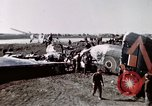 Image of wrecked British Halifax III aircraft Germany, 1945, second 5 stock footage video 65675047587