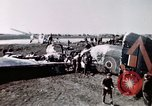Image of wrecked British Halifax III aircraft Germany, 1945, second 6 stock footage video 65675047587