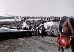 Image of wrecked British Halifax III aircraft Germany, 1945, second 7 stock footage video 65675047587