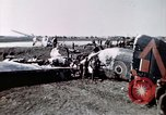 Image of wrecked British Halifax III aircraft Germany, 1945, second 8 stock footage video 65675047587