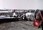 Image of wrecked British Halifax III aircraft Germany, 1945, second 9 stock footage video 65675047587