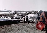 Image of wrecked British Halifax III aircraft Germany, 1945, second 10 stock footage video 65675047587