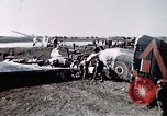 Image of wrecked British Halifax III aircraft Germany, 1945, second 11 stock footage video 65675047587
