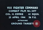 Image of strafing air strip European Theater, 1944, second 2 stock footage video 65675047639