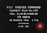 Image of Focke-Wulf Fw-190 fighter European Theater, 1944, second 3 stock footage video 65675047669