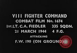 Image of attack on Focke-Wulf Fw-190 plane European Theater, 1944, second 3 stock footage video 65675047672