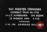 Image of German Focke-wulf Fw 190 fighter plane European Theater, 1944, second 3 stock footage video 65675047674