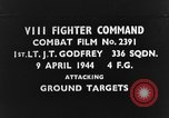 Image of attacks enemy aircraft sheltered in trees European Theater, 1944, second 1 stock footage video 65675047688