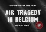 Image of wreckage of crashed plane Brussels Belgium, 1961, second 2 stock footage video 65675047740