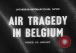 Image of wreckage of crashed plane Brussels Belgium, 1961, second 3 stock footage video 65675047740