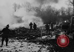 Image of wreckage of crashed plane Brussels Belgium, 1961, second 7 stock footage video 65675047740