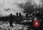 Image of wreckage of crashed plane Brussels Belgium, 1961, second 9 stock footage video 65675047740