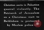 Image of Patriarch of Jerusalem Bethlehem Palestine, 1936, second 1 stock footage video 65675047743