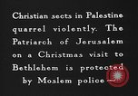 Image of Patriarch of Jerusalem Bethlehem Palestine, 1936, second 6 stock footage video 65675047743