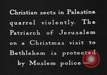Image of Patriarch of Jerusalem Bethlehem Palestine, 1936, second 10 stock footage video 65675047743