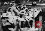 Image of water skiers Cypress Gardens Florida USA, 1956, second 11 stock footage video 65675047757
