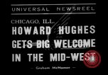 Image of aviator Howard Hughes Chicago Illinois USA, 1938, second 3 stock footage video 65675047767