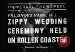 Image of Wedding ceremony on roller coaster Palisades Park New Jersey USA, 1938, second 3 stock footage video 65675047769
