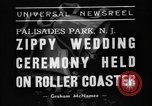 Image of Wedding ceremony on roller coaster Palisades Park New Jersey USA, 1938, second 5 stock footage video 65675047769