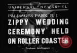 Image of Wedding ceremony on roller coaster Palisades Park New Jersey USA, 1938, second 6 stock footage video 65675047769